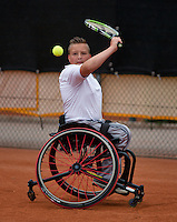 10-08-13, Netherlands, Rotterdam,  TV Victoria, Tennis, NJK 2013, National Junior Tennis Championships 2013,  Mitchel Graauw<br /> <br /> Photo: Henk Koster