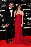 Actress Andrea Duro and Joel Bosqued attend Goya Cinema Awards 2014 red carpet at Centro de Congresos Principe Felipe on February 9, 2014 in Madrid, Spain. (ALTERPHOTOS/Victor Blanco)