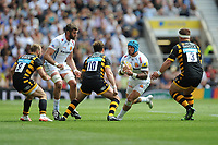 Jack Nowell of Exeter Chiefs prepares for Danny Cipriani of Wasps' tackle during the Premiership Rugby Final at Twickenham Stadium on Saturday 27th May 2017 (Photo by Rob Munro)