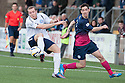 Forfar's Michael Dunlop gets away from Morton's Stefan McCluskey.
