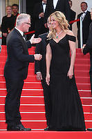 THIERRY FREMAUX AND JULIA ROBERTS - RED CARPET OF THE FILM 'MONEY MONSTER' AT THE 69TH FESTIVAL OF CANNES 2016