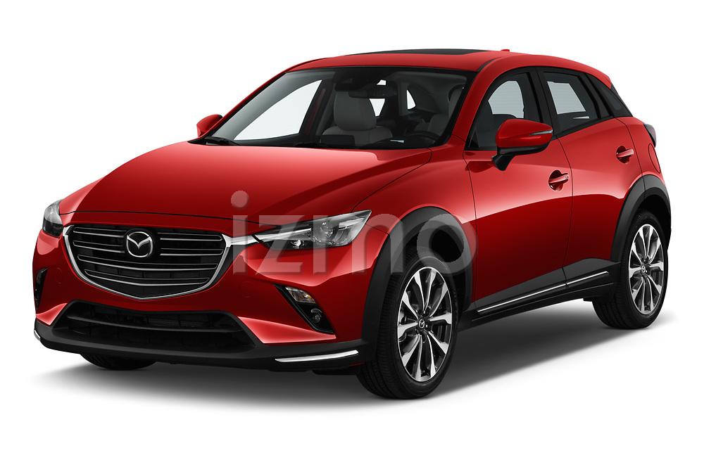 2019 Mazda CX-3 Skycruise 5 Door SUV Angular Front stock photos of front three quarter view