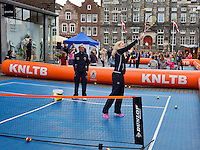 April 17, 2015, Netherlands, Den Bosch, Maaspoort, Fedcup Netherlands-Australia,  Street tennis with Michaëlla Krajicek (NED)<br /> Photo: Tennisimages/Henk Koster