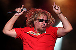 Sammy Hagar performs at the Harvey's Lake Tahoe Outdoor Arena in Stateline, Nev., on Saturday, Aug. 16, 2014. <br /> Photo by Cathleen Allison