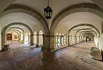 Deutschland, Bayern, Oberbayern, Berchtesgadener Land, Berchtesgaden: koenigliches Schloss - Kreuzgang | Germany, Upper Bavaria, Berchtesgadener Land, Berchtesgaden; Royal Castle - Cloister