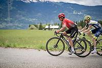 Nairo Quintana (COL/Arkea Samsic) up the Col de Joux Plane (HC/1691m/11.6 km@8.5 %)<br /> <br /> 73rd Critérium du Dauphiné 2021 (2.UWT)<br /> Stage 8 (Final) from La Léchère-Les-Bains to Les Gets (147km)<br /> <br /> ©kramon