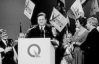 FILE PHOTO : Jean garon lors  de la course à la chefferie du Parti Québécois, le 29 septembre 1985<br /> <br /> PHOTO : Denis Alix -  Agence Quebec Presse