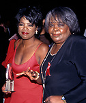 Oprah Winfrey with her mother Vernita Lee attend the Academy of Television Arts and Sciences' Hall of Fame at the Walt Disney World on October 1, 1994 in Orlando, Florida.