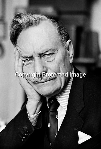 Enoch Powell at home London 1983