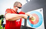 Tokyo 2020  -  Archery // Tir à L'Arc<br /> Karen Van Nest during an archery training session // Karen Van Nest lors d'un entraînement au tir à l'arc.  24/08/2021.