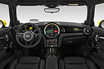 Stock photo of straight dashboard view of 2020 MINI MINI-Electric Cooper-SE-L 2 Door Hatchback Dashboard
