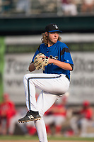 Missoula Osprey relief pitcher Jake Polancic (30) delivers a pitch during a Pioneer League game against the Orem Owlz at Ogren Park Allegiance Field on August 19, 2018 in Missoula, Montana. The Missoula Osprey defeated the Orem Owlz by a score of 8-0. (Zachary Lucy/Four Seam Images)