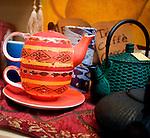 Teapots, Biblioteq, Rome, Italy, Europe