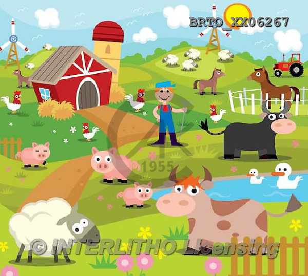 Alfredo, CUTE ANIMALS, LUSTIGE TIERE, ANIMALITOS DIVERTIDOS, puzzle, paintings+++++,BRTOXX06267,#AC# ,farm animals