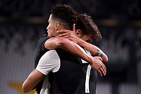 Cristiano Ronaldo of Juventus celebrates with Paulo Dybala after scoring a goal during the Serie A football match between Juventus FC and SS Lazio at Juventus stadium in Turin (Italy), July 20th, 2020. Play resumes behind closed doors following the outbreak of the coronavirus disease. <br /> Photo Federico Tardito / Insidefoto
