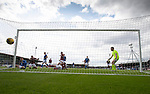 Arbroath v St Johnstone…15.08.21  Gayfield Park      Premier Sports Cup<br />Glenn Middleton scores for St Johnstone after being first to react to the re-bound from Jason Kerr's saved penalty.<br />Picture by Graeme Hart.<br />Copyright Perthshire Picture Agency<br />Tel: 01738 623350  Mobile: 07990 594431