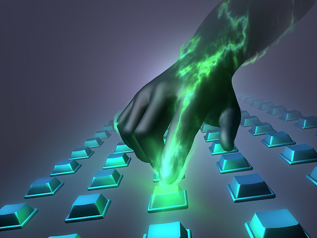Plasma sourounding finger on button
