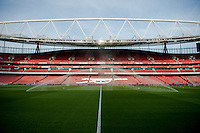 LONDON, ENGLAND - MAY 11: View of the inside of the Emirates stadium  prior to the Premier League match between Arsenal and Swansea City at Emirates Stadium on May 11, 2015 in London, England.  (Photo by Athena Pictures/Getty Images)