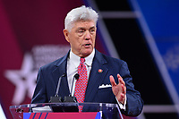 National Harbor, MD - February 27, 2020: U.S. Representative Roger Williams speaks during CPAC 2020 hosted by the American Conservative Union at the Gaylord National Resort at National Harbor, MD February 27, 2020.  (Photo by Don Baxter/Media Images International)