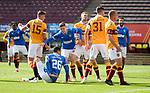 27.09.2020 Motherwell v Rangers:  Cedric Itten pokes in goal no 5 for Rangers