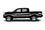 Car Driver side profile view of a 2015 Toyota Tacoma PreRunner 4 Door Pick up Side View