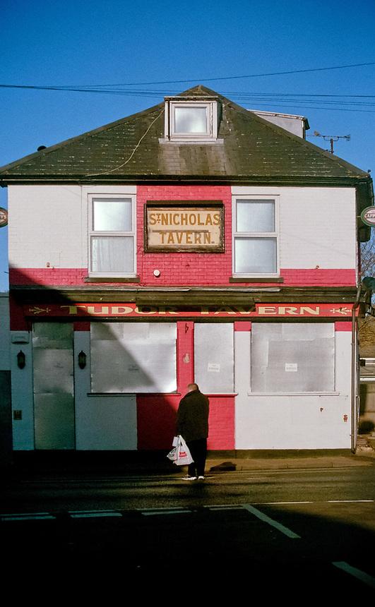 St NIcholas Tavern, a closed pub. Great Yarmouth, Norfolk,UK.