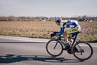 Aime De Gendt (BEL/Sport Vlaanderen-Baloise) in bib shorts in freezing temperatures<br /> <br /> Omloop Het Nieuwsblad 2018<br /> Gent › Meerbeke: 196km (BELGIUM)