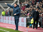 Hearts v St Johnstone…03.02.18…  Tynecastle…  SPFL<br />Tommy Wright shouts instructions<br />Picture by Graeme Hart. <br />Copyright Perthshire Picture Agency<br />Tel: 01738 623350  Mobile: 07990 594431