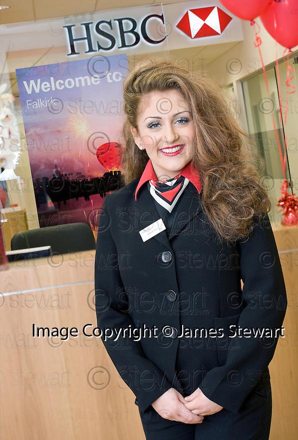 HSBC Falkirk :  Customer Service Officer, Hannah Kerr.