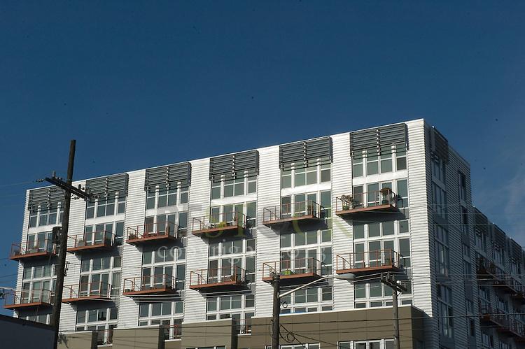 Apartment Building with Decks