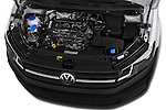 Car Stock 2015 Volkswagen Caddy Maxi Dark & Cool 5 Door Mini Mpv Engine high angle detail view