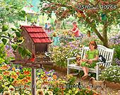 Liz,LANDSCAPES, LANDSCHAFTEN, PAISAJES, LizDillon,garden,children,flowers paintings+++++,USHCLD0268,#L#, EVERYDAY ,puzzle,puzzles