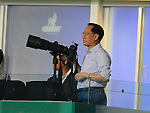 SO KON PO, HONG KONG - JULY 30: Hong Kong Chief Executive Donald Tsang takes pictures using a Nikon camera during the Asia Trophy final match against Chelsea and Aston Villa at the Hong Kong Stadium on July 30, 2011 in So Kon Po, Hong Kong.  Photo by Victor Fraile / The Power of Sport Images