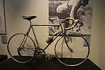 Bianchi racing bike ridden to victory by Fausto Coppi in the 1953 World Championships on dispaly in reception Bianchi Factory, Treviglio, Italy. 30th September 2015.<br /> Picture: Eoin Clarke | Newsfile