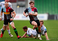 20th March 2021; Twickenham Stoop, London, England; English Premiership Rugby, Harlequins versus Gloucester; Harlequins, Gloucester; Luke Northmore of Harlequins breaking through and making good ground