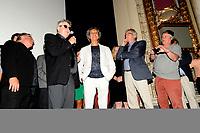 Andre Forcier et les comediens du film d'ouverture du Festival des Films du monde ; Embrasse-moi comme tu m'aimes <br /> , jeudi, 25 aout 2O16.<br /> <br /> <br /> Photo : Agence Quebec Presse
