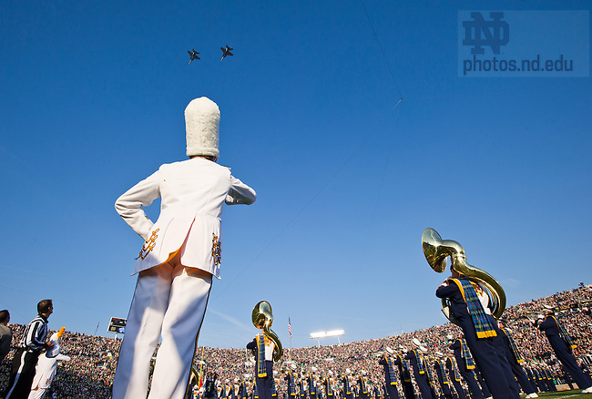 Nov. 17, 2012; Two Navy F/A18s provided the flyover.