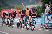 Team BMC<br /> <br /> UCI MEN'S TEAM TIME TRIAL<br /> Ötztal to Innsbruck: 62.8 km<br /> <br /> UCI 2018 Road World Championships<br /> Innsbruck - Tirol / Austria