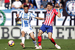 CD Leganes' Oscar Rodriguez Arnaiz (l) and Atletico de Madrid's Santiago Arias during La Liga match. November 3,2018. (ALTERPHOTOS/Acero)
