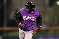 May 3, 2010:  Starting pitcher Aroldis Chapman (51) of the Louisville Bats runs the bases during a game vs. the Buffalo Bisons at Coca-Cola Field in Buffalo, NY.   Louisville defeated Buffalo by the score of 20-7, Chapman got the win on the mound.  Photo By Mike Janes/Four Seam Images
