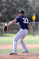 Sheldon Neuse, #33 of Fossil Ridge High School, Texas playing for the Texas Scout Team Yankees during the WWBA World Champsionship 2012 at the Roger Dean Complex on October 28, 2012 in Jupiter, Florida. (Stacy Jo Grant/Four Seam Images)..