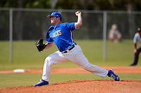 South Dakota State Jackrabbits pitcher Shane Kraemer #27 during a game against the Ohio State Buckeyes at North Charlotte Regional Park on February 23, 2013 in Port Charlotte, Florida.  Ohio State defeated South Dakota State 5-2.  (Mike Janes/Four Seam Images)