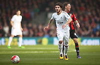 Alberto Palosch of Swansea City during the Barclays Premier League match between AFC Bournemouth and Swansea City played at The Vitality Stadium, Bournemouth on March 11th 2016