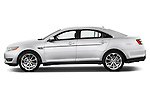 Driver side profile view of a 2017 Ford Taurus Limited Sedan