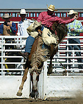 Bareback rider Nick Gilbert scored a 63 point ride and erned a re-ride option at the Southeast Weld County CPRA Rodeo in Keenesburg, Colorado on August 12, 2006. Nick bucked off his re-ride and went home empty handed.