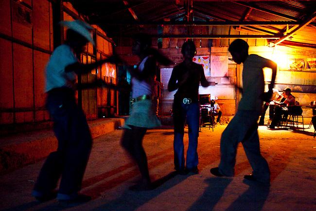 A school dance at a settlement inside the Mayan Biosphere.