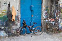 Stone Town, Zanzibar, Tanzania.  Street Scene, Bicycle.