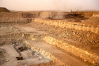 Arlit, Niger.  Open-pit Uranium mine.