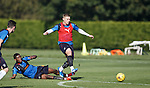 Nathan Oduwa attempts to stop the wandering Waghorn