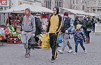 © Si Barber 07739 472 922<br /> Migrant workers from Eastern Europe shopping in Boston, Lincolnshire, UK